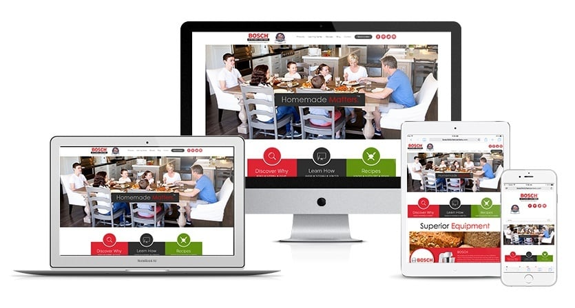 Bosch Kitchen Centers Website