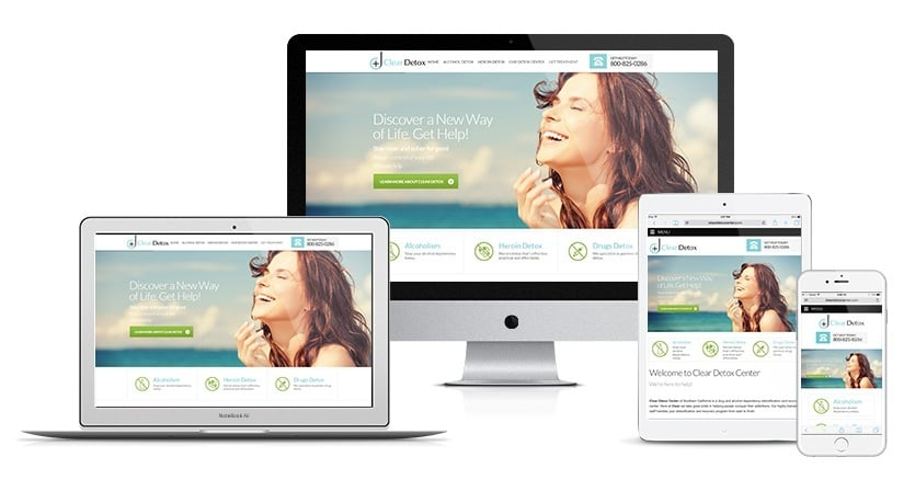 Clear Detox Center Website